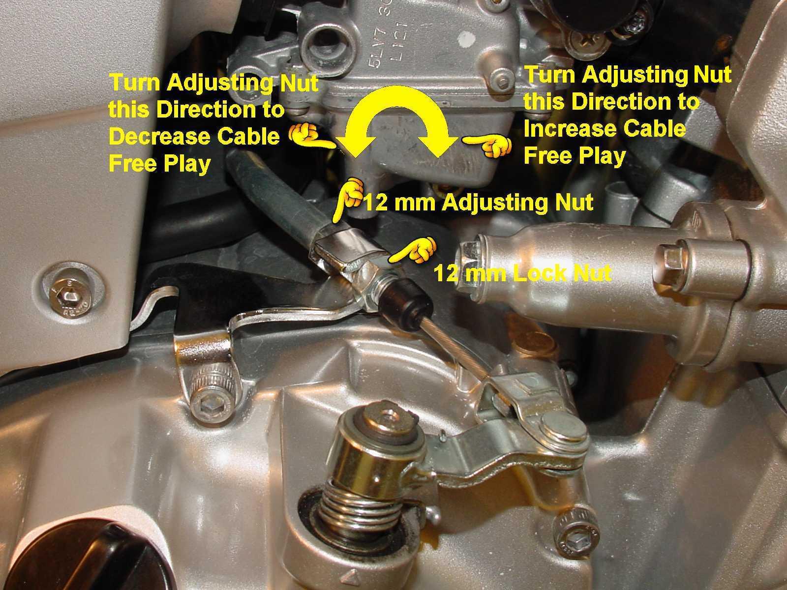 Yamaha Moto  Clutch Adjustment