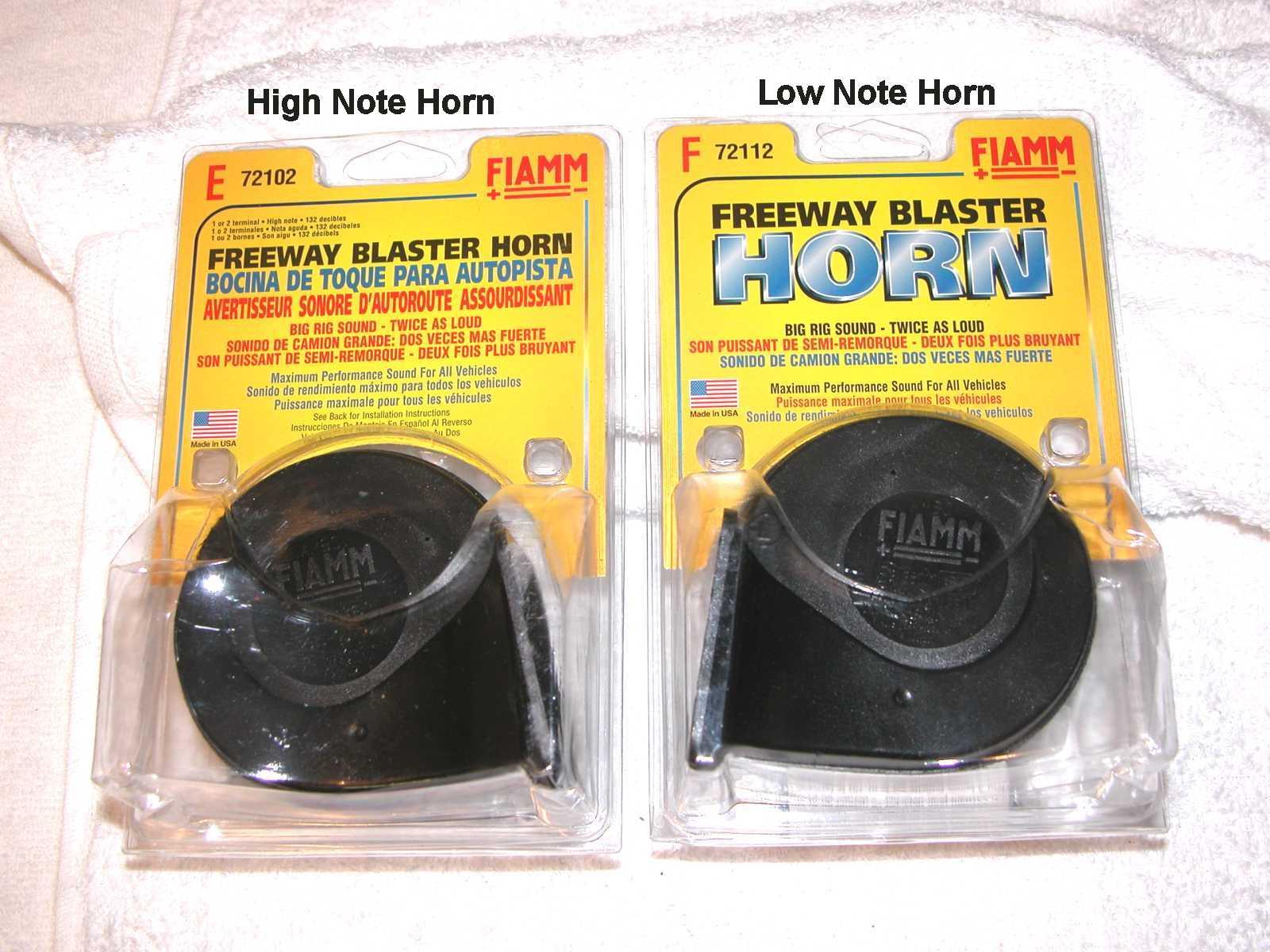Fiamm Air Horn Relay Wiring