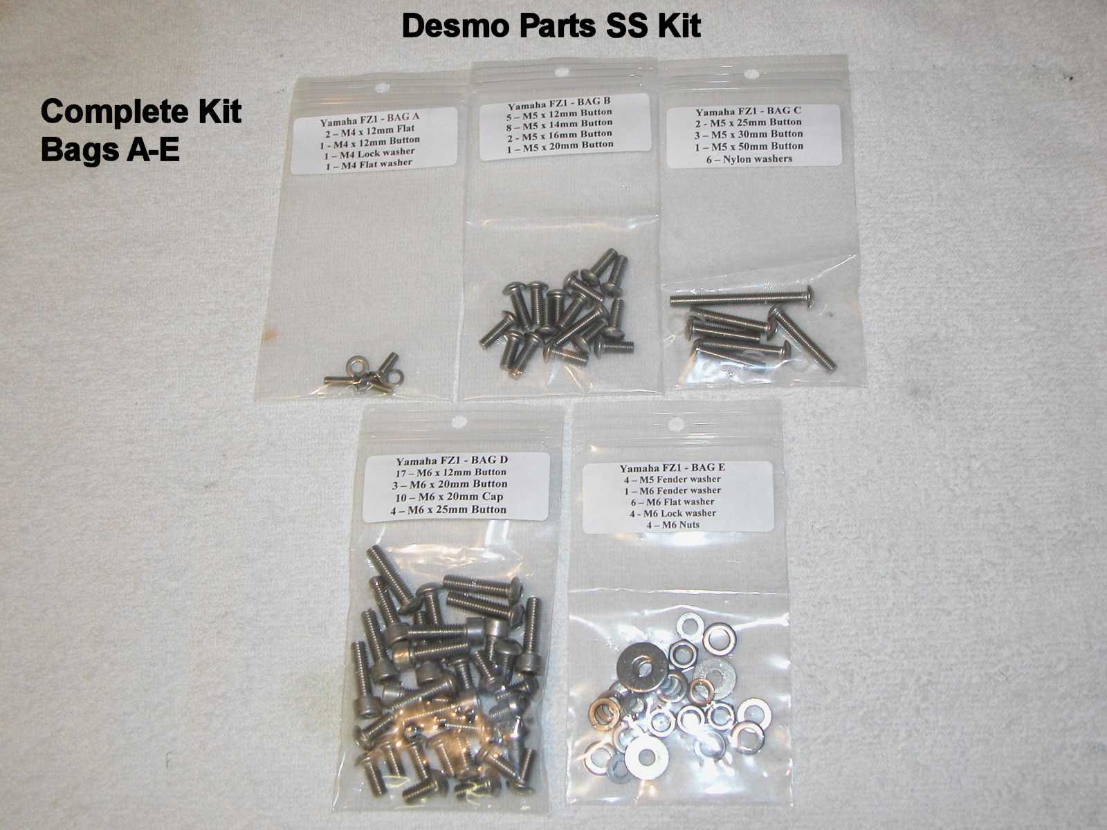 Bag A Contains Three M5 Screws And 2 Washers