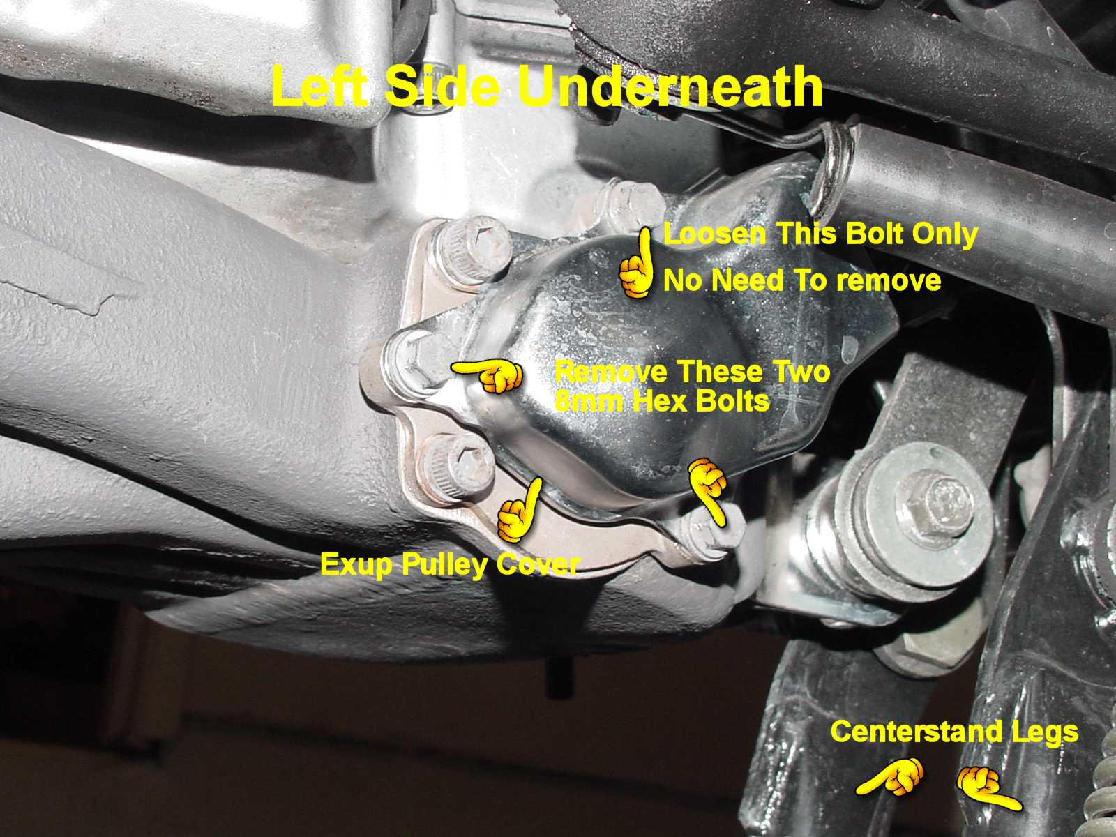 Lubricating Control And Exhaust Valve Cables Yamaha Snowmobile Electrical Wiring Next Loosen The All Way First Lock Nuts Then Adjusting Turn Both Such